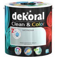 Farby, Satynowa farba lateksowa Dekoral Clean&Color przejrzysta mgła 2,5 l