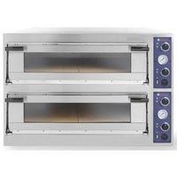 Piece i płyty grzejne gastronomiczne, Piec do pizzy 2-komorowy 13800W | 8x Ø 40cm | 400V