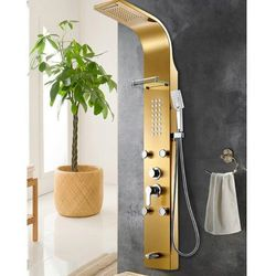Panel prysznicowy INDES deszczownica hydromasaż kaskada
