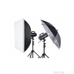 Quadralite zestaw studyjny Move 300 kit - 2 lampy + parasolka + softbox + statywy