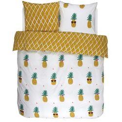 Pościel bawełniana Pineapple, zestaw pościeli, bawełna 100 %, komplet na duże łóżko 240x220 + 2/60x70