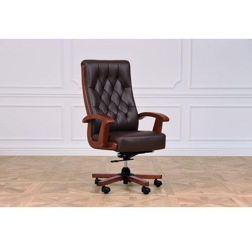 Fotele i krzesła biurowe, Fotel skórzany CONSUL brązowy