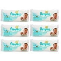 Chusteczki dla niemowląt, Zestaw 6 x PAMPERS 56szt Sensitive Chusteczki nawilżane dla dzieci i niemowląt