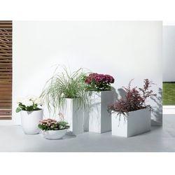 Doniczka biała - donica na balkon - ogrodowa - 55x55x19 cm - MURITZ