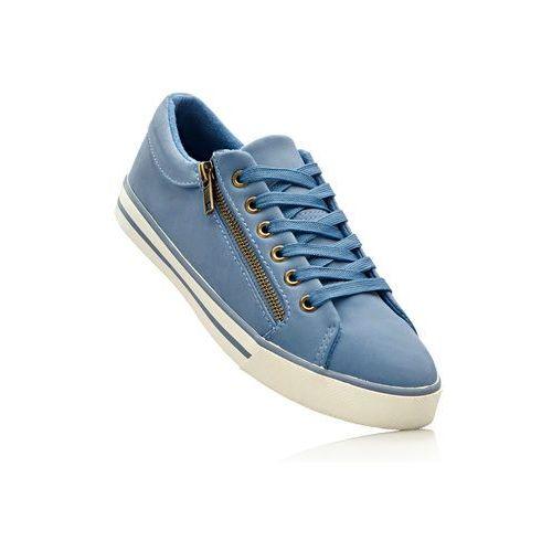 Damskie obuwie sportowe, Sneakersy bonprix matowy niebieski
