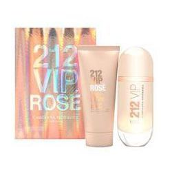 Carolina Herrera 212 VIP Rose, Zestaw podarunkowy, woda perfumowana 80ml + balsam do ciała 100ml (Travel set)