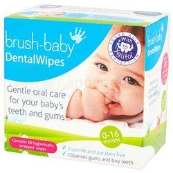 BRUSH-BABY Dental Wipes 28 szt.- chusteczki higieniczne z ksylitolem do czyszczenia dziąseł i pierwszych ząbków