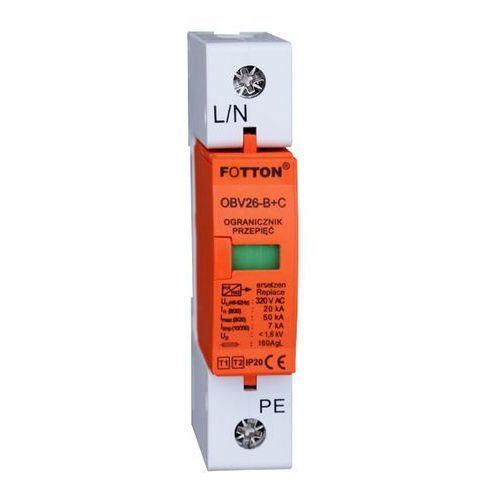 Baterie słoneczne, Ogranicznik przepięć FOTTON OBV26-B+C/1P kl I,II 20/65kA 275V AC