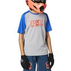 Fox Defend SS Jersey Youth, szary XL   151-162 2021 Koszulki dziecięce trykotowe Przy złożeniu zamówienia do godziny 16 ( od Pon. do Pt., wszystkie metody płatności z wyjątkiem przelewu bankowego), wysyłka odbędzie się tego samego dnia.