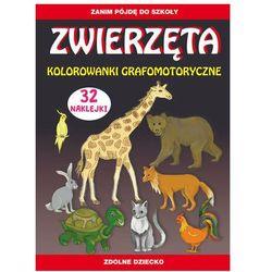 Zwierzęta. Kolorowanki grafomotoryczne - Guzowska Beata, Zakierska Tina