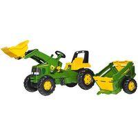 Traktory dla dzieci, Rolly Toys Traktor John Deere z Przyczepą