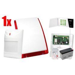 Bezprzewodowy System alarmowy SATEL: Płyta Główna MICRA, Manipulator MKP-300, 1 x Czujka MPD-300, Sygnalizator, Akcesoria
