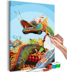 Artgeist Obraz do samodzielnego malowania - kolorowy dragon