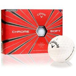 Piłki golfowe CALLAWAY CHROME SOFT (białe)