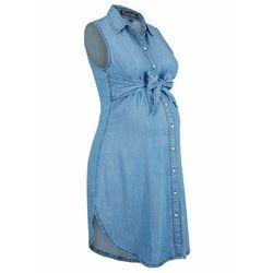 """Sukienka ciążowa i do karmienia, przyjazna dla środowiska, TENCEL™, lyocell bonprix niebieski """"bleached"""""""