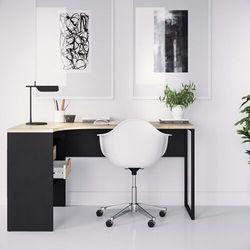 Tvilum Function 118 biurko narożne czarny mat/dąb sonoma
