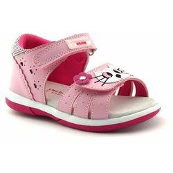 American club Sandały dla dzieci dr 22/21 pink (5903497010536)