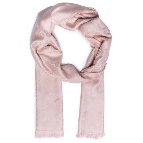 Chusta LIU JO - Stola Jacquard Logo 2A1026 T0300 Cameo Rose 41310, kolor różowy