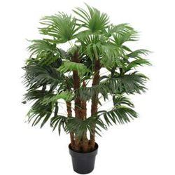 Sztuczne drzewko palmowe rhapis pień naturalny - wys. 93 cm marki Vente-unique