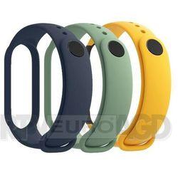 Xiaomi 3x paski mi band 5 (niebieski, żółty, zielony) (6934177724046)