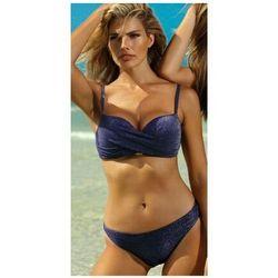 kostium strój kąpielowy dwuczęściowy, kolor: navy, materiał: poliester/lycra, rozmiar stroju treningowego: d42 marki Self