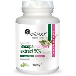 Bakopa Bacopa monnieri ekstrakt 50% 100 kapsułek vege caps Aliness