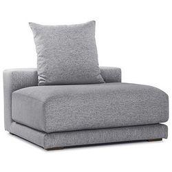 Fotel perłowoszary - Przedłużenie - fotel tapicerowany - CLOUD