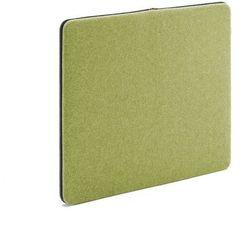 Ścienny panel dźwiękochłonny Zip, 800x650 mm, zielony, czarny suwak