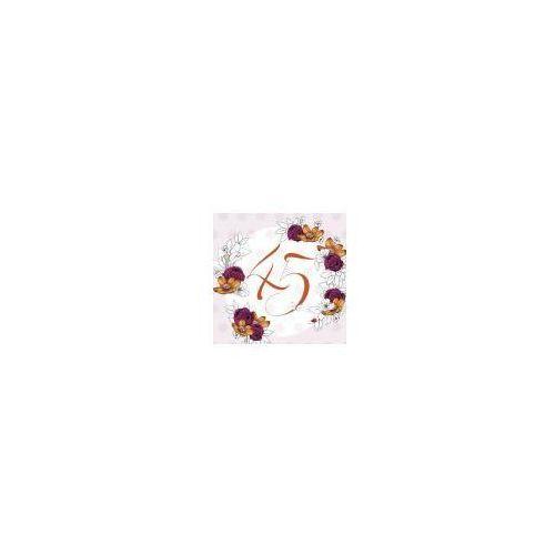Pozostałe artykuły szkolne, Karnet Swarovski kwadrat CL1445_PO Urodziny 45