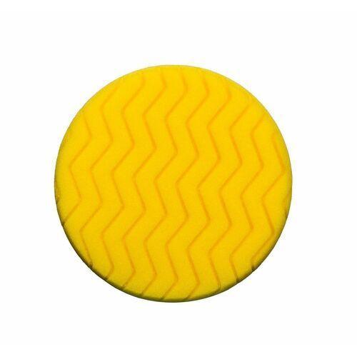 Gąbki samochodowe, RRC Classic Zigzag 150mm żółta gąbka polerska