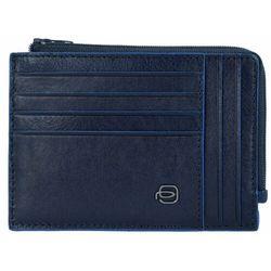 Piquadro Blue Square Special Etui na karty RFID skórzana 12,5 cm blu ZAPISZ SIĘ DO NASZEGO NEWSLETTERA, A OTRZYMASZ VOUCHER Z 15% ZNIŻKĄ