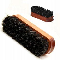 Szczotka do butów coccine z końskiego włosia 12 cm do czyszczenia i polerowania