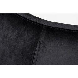 Fotel EGG SZEROKI VELVET BLACK z podnóżkiem czarny.50 - welur, podstawa czarna
