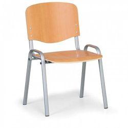Drewniane krzesło ISO, Buk, kolor konstrucji szary, nośność 120 kg