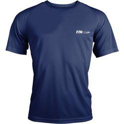 TTK R-NECK CAPSULE NAVY - koszulka tenisowa R. S