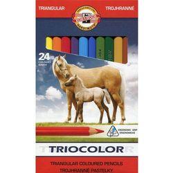 Kredki KOH-I-NOOR Triocolor 24 kolorów 3144