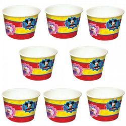 """Kubeczki, pojemniczki na lody, deser """"Mickey Mouse - Myszka Miki"""" 8 szt."""