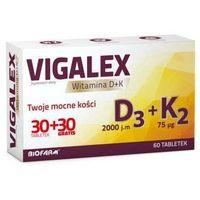 Witaminy i minerały, Vigalex d3 + k2 x 30 tabletek + 30 tabletek gratis