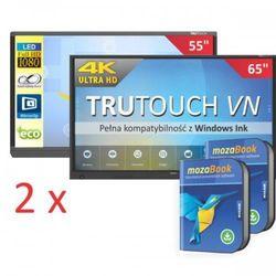 Zestaw Duet: Monitor interaktywny TT-6518VN Newlinie + monitor interaktywny Newlinie TT-5515EX + 2x oprogramowanie MozaBook + 2x IdeaMax - 0%VAT dla szkół!