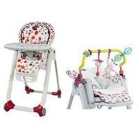 Krzesełka do karmienia, Krzesełko do karmienia Polly Progres5 + pałąk i wkładka Chicco + GRATIS (cherry)