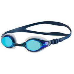 Okulary Speedo Mariner Supreme Mirror Clear-Navy-Blue Mirror 811319B974