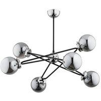 Lampy sufitowe, Lampa wisząca SAGITO CHROM srebrno-czarna E14 ALFA