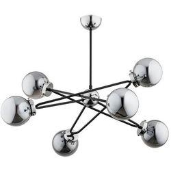 Lampa wisząca SAGITO CHROM srebrno-czarna E14 ALFA