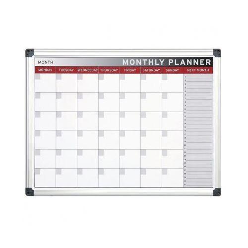 Tablice szkolne, Planer, Tablica suchościeralno-magnetyczna do planowania miesięcznego, 600x450 mm