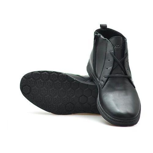 Kozaki męskie, Trzewiki Badura 4558-F Czarne lico
