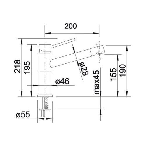 Baterie do kuchni, Bateria Blanco Alta compact 515324