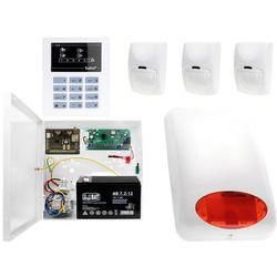 System alarmowy z GSM: Płyta główna CA-5 + Manipulator CA-5 KLED-S + 3x Czujnik ruchu + Moduł GSM + Akcesoria