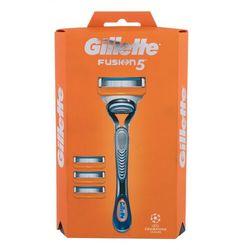 Gillette Fusion 5 zestaw Maszynka do golenia z 1 głowicą 1 szt. + zapasowe głowice 3 szt. dla mężczyzn