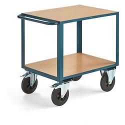 Wózek warsztatowy SEDAN, z hamulcem, 2 koła skrętne, 600 kg, 800x600 mm
