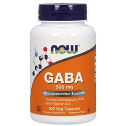 NOW Foods GABA 500 mg 100 kaps
